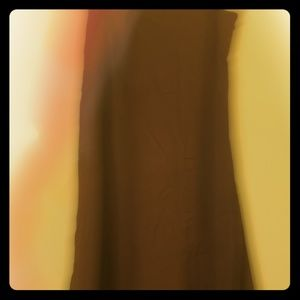 Brown Ankle Skirt